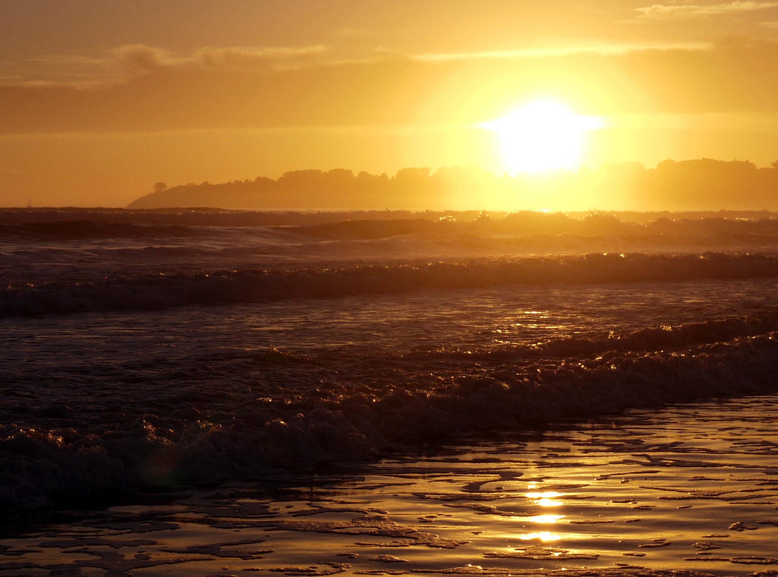 Sunset at Stinson Beach.