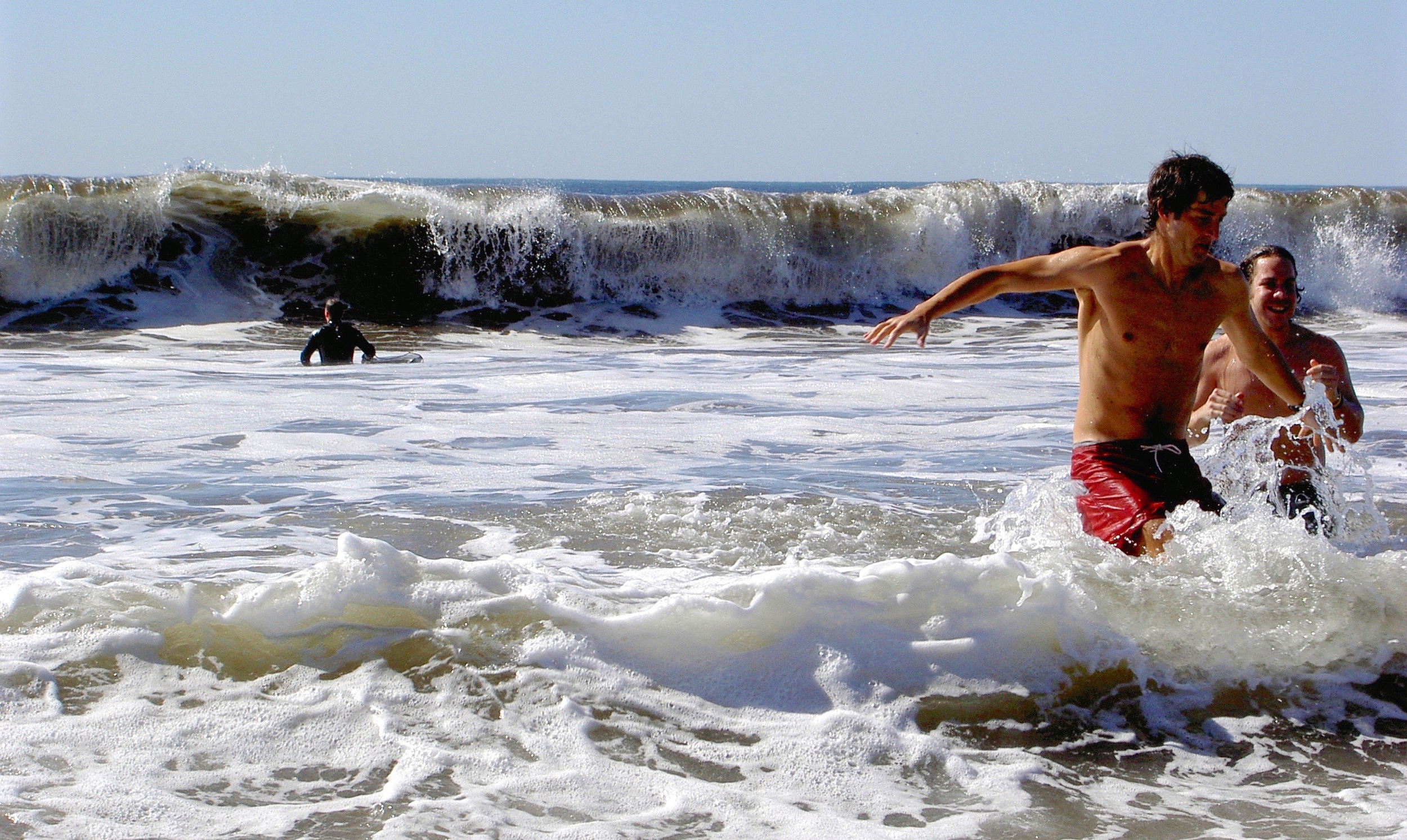 Boogie boarders test their mettle at Stinson Beach.