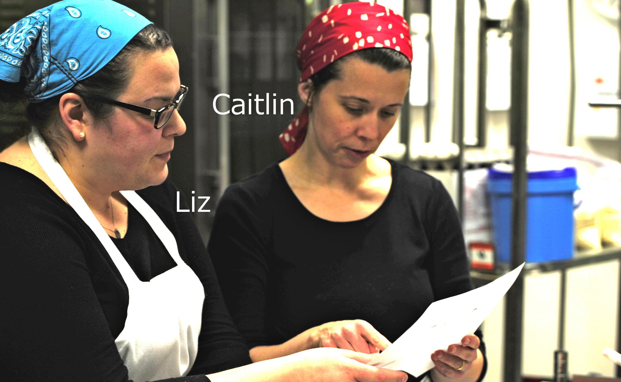 Liz and Caitlin