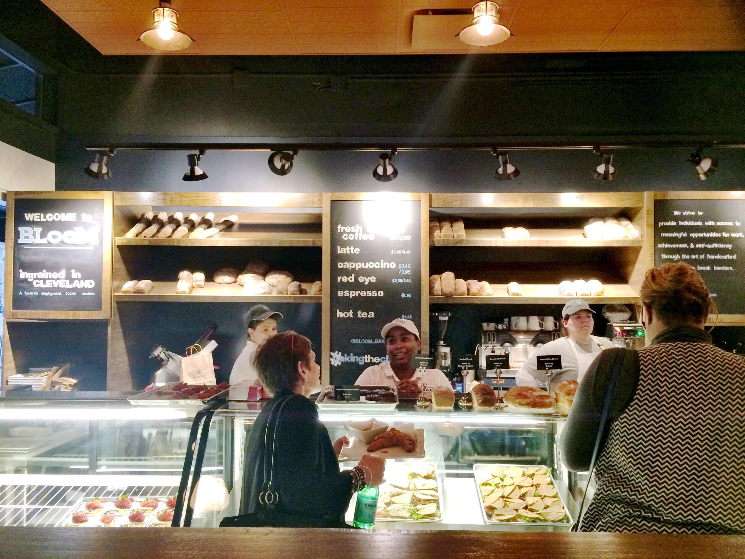 Saidah Farrell behind the counter slinging incredible pastry samples.