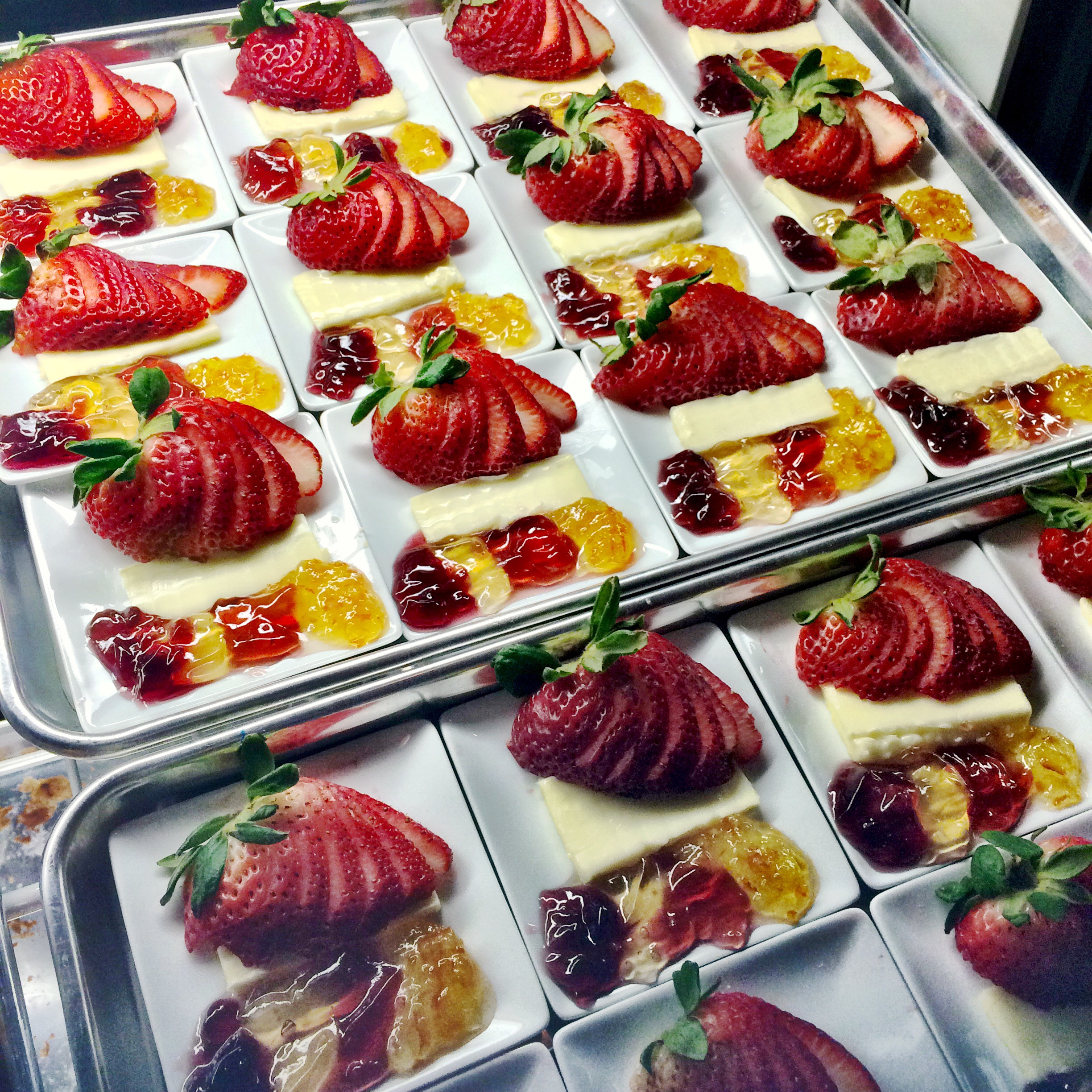 Jellies, butter, strawberries...put that on your pastry and eat it!