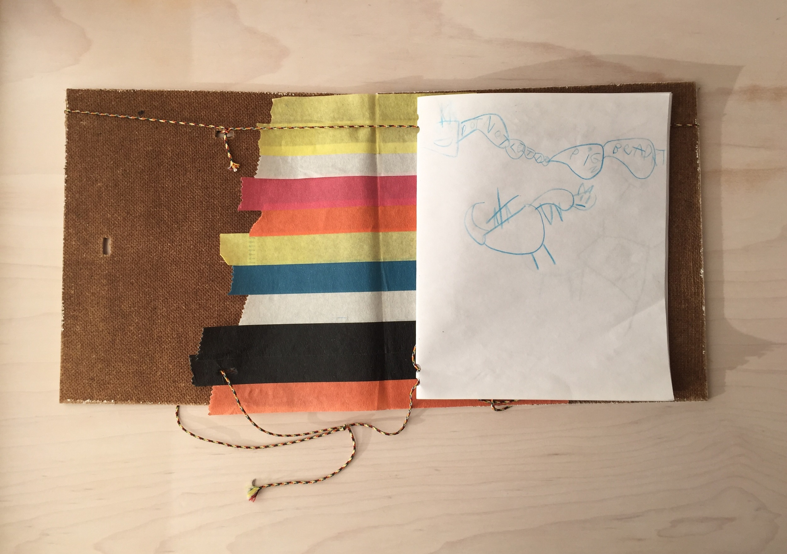 Handmade book by Marcas,age 6