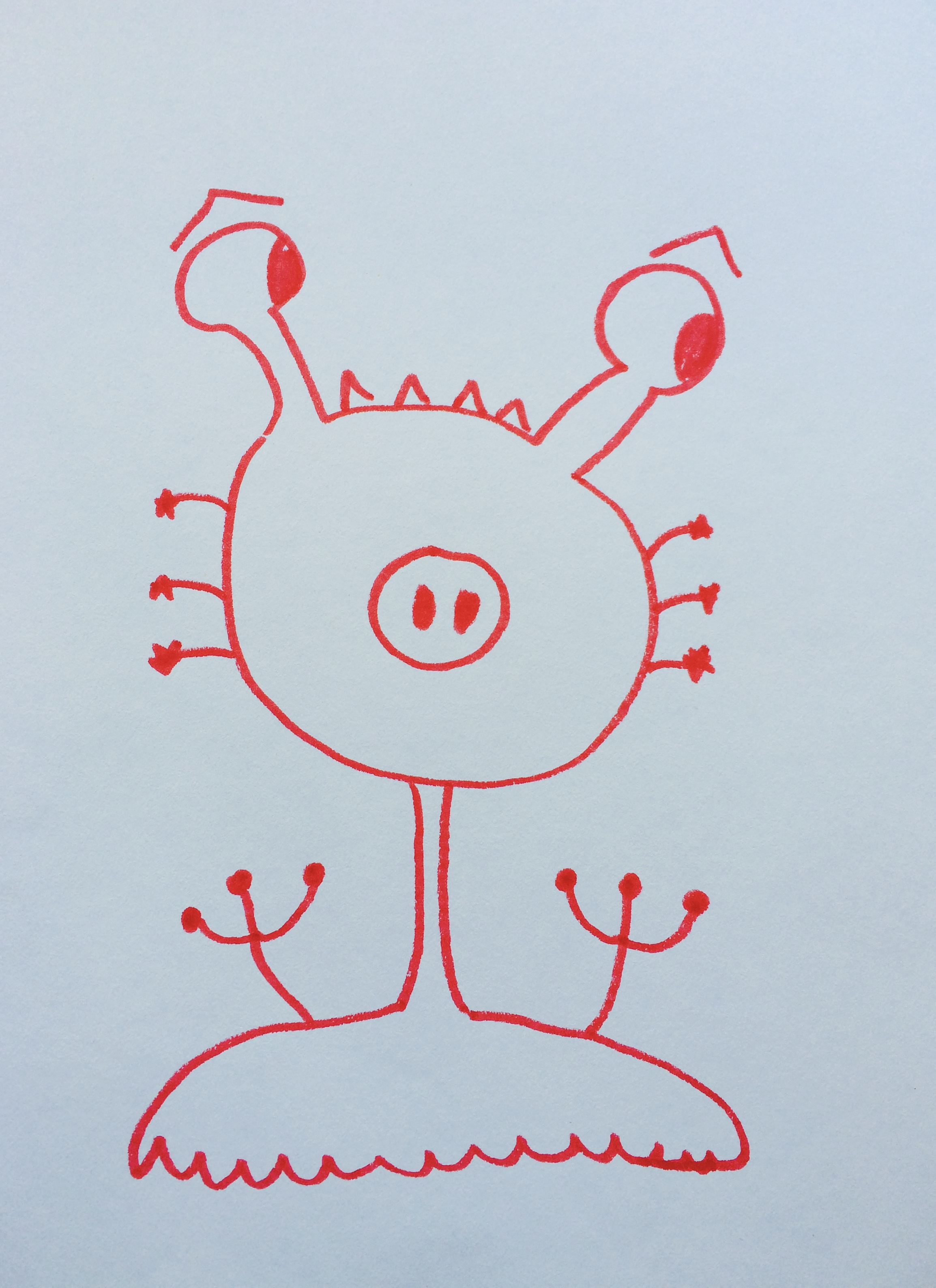 Silly monster by Hannah