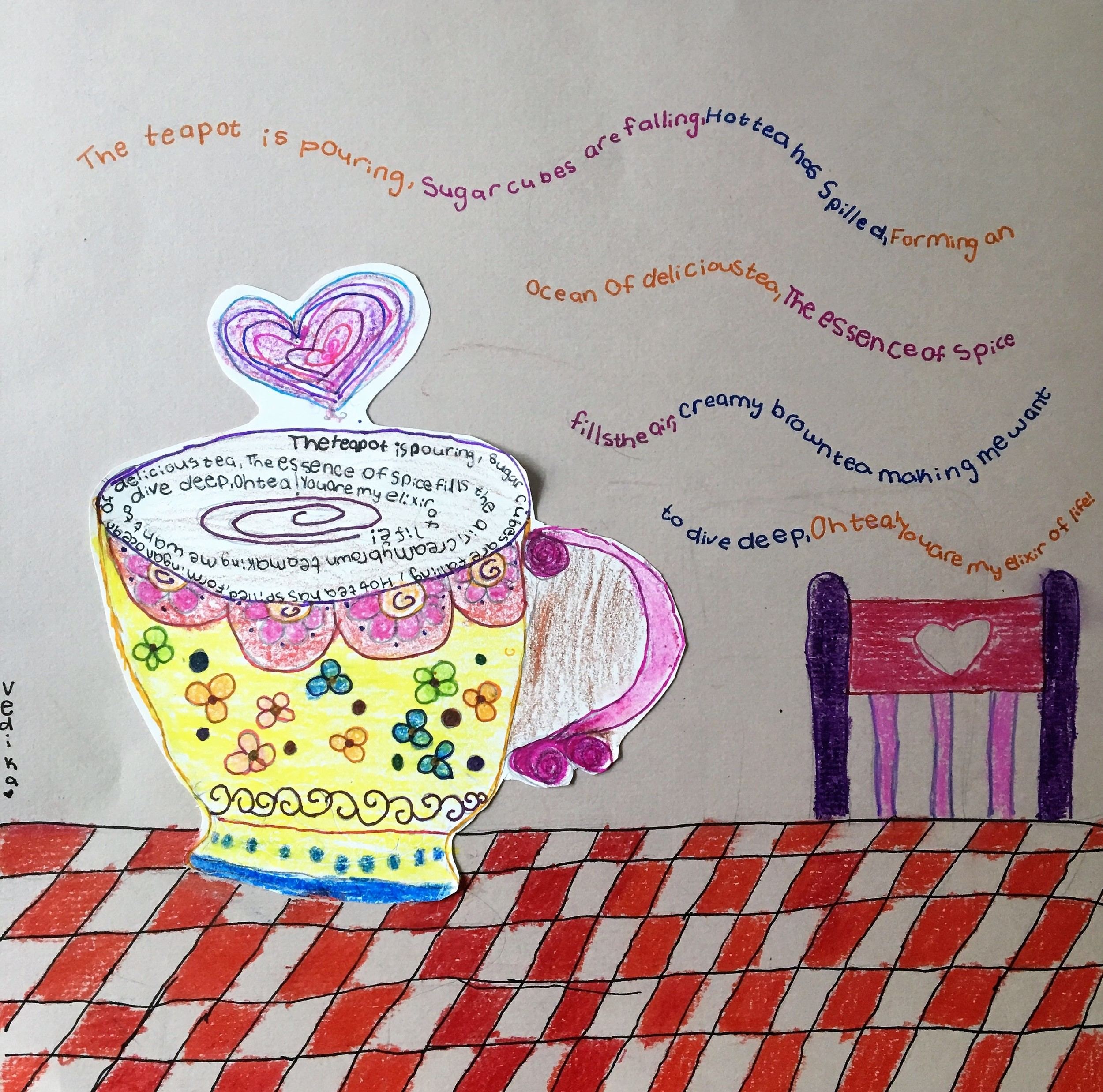 "Vedika, age 10, ""And Ode to Tea"""