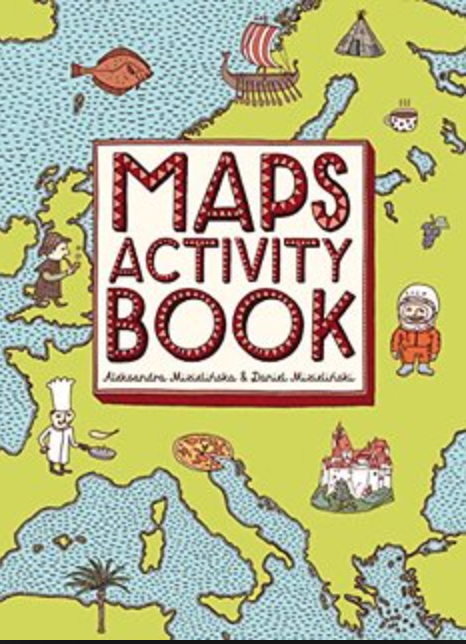 Discover something new as you draw, color, and doodle your way around the globe in the  Maps Activity Book .
