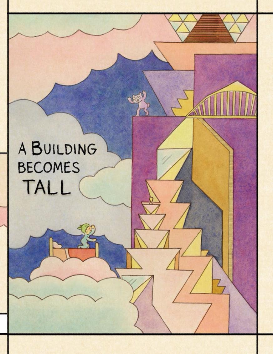 "artwork © Lark Pien; from ""Dream Before Building""in Illustoria issue 1, The Beginnings Issue"