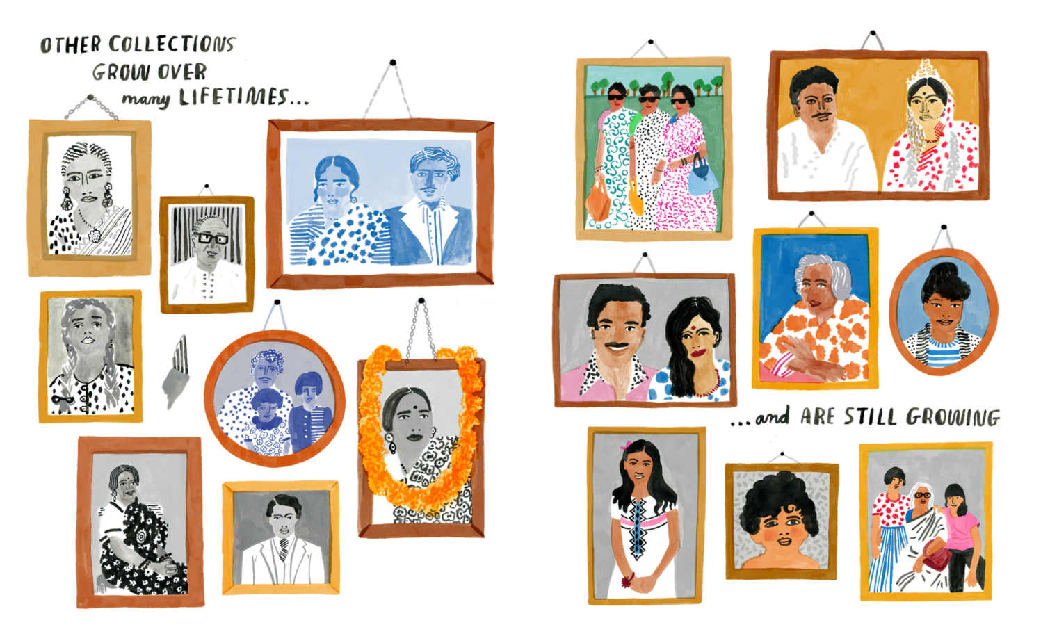 art © Nina Chakrabarti; from Nina's upcoming title  My Collection of Collections: A Sticker Book