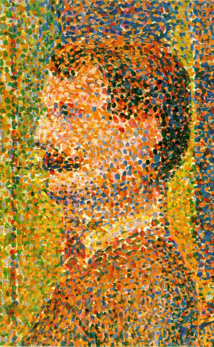 Close-Up of  Circus Slideshow,   George Seurat, 1888