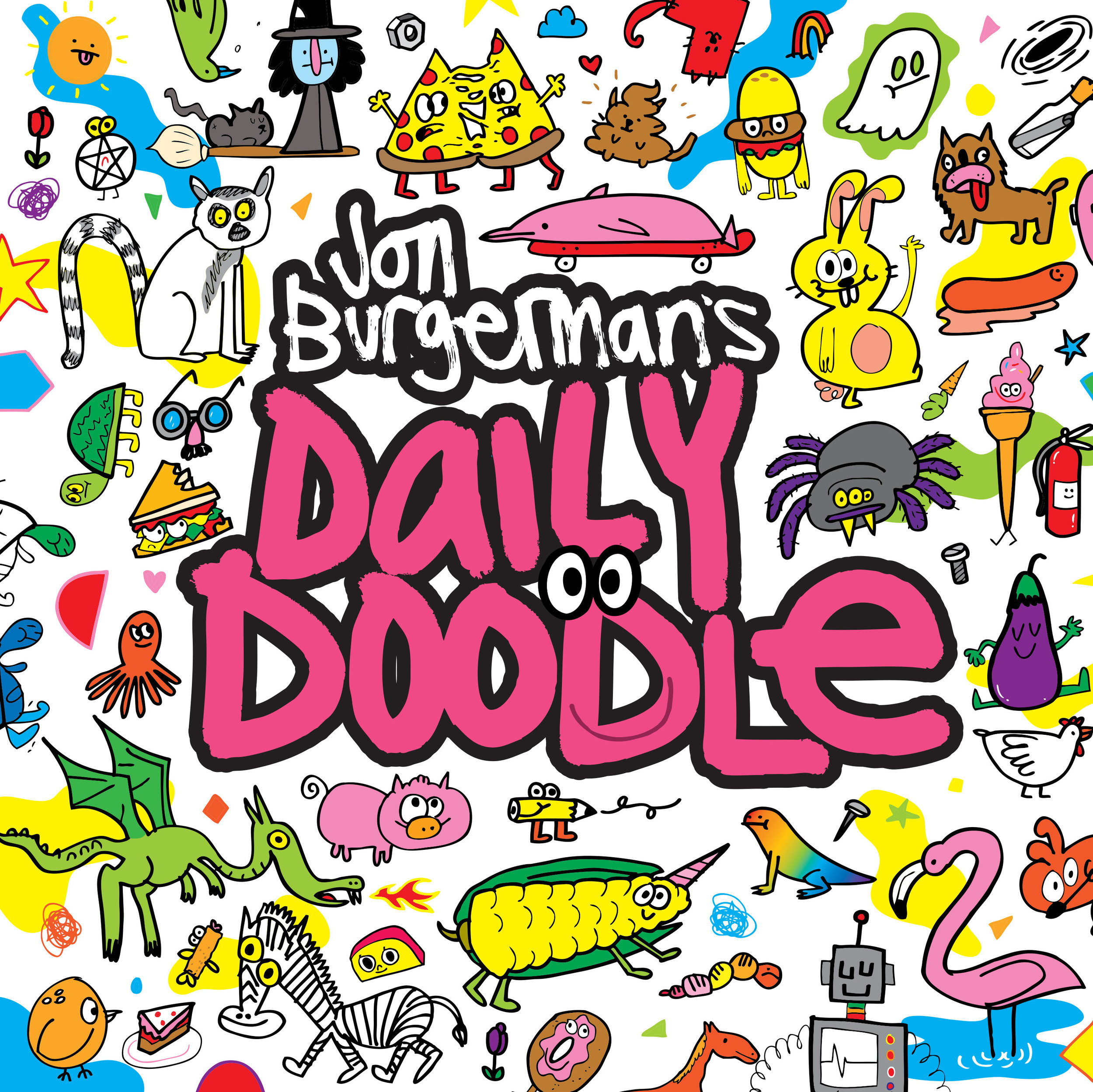 We adore this cover and all the ridiculously fun and engaging doodling prompts in this book, which comes with cool doodle stickers to complete and stick anywhere!