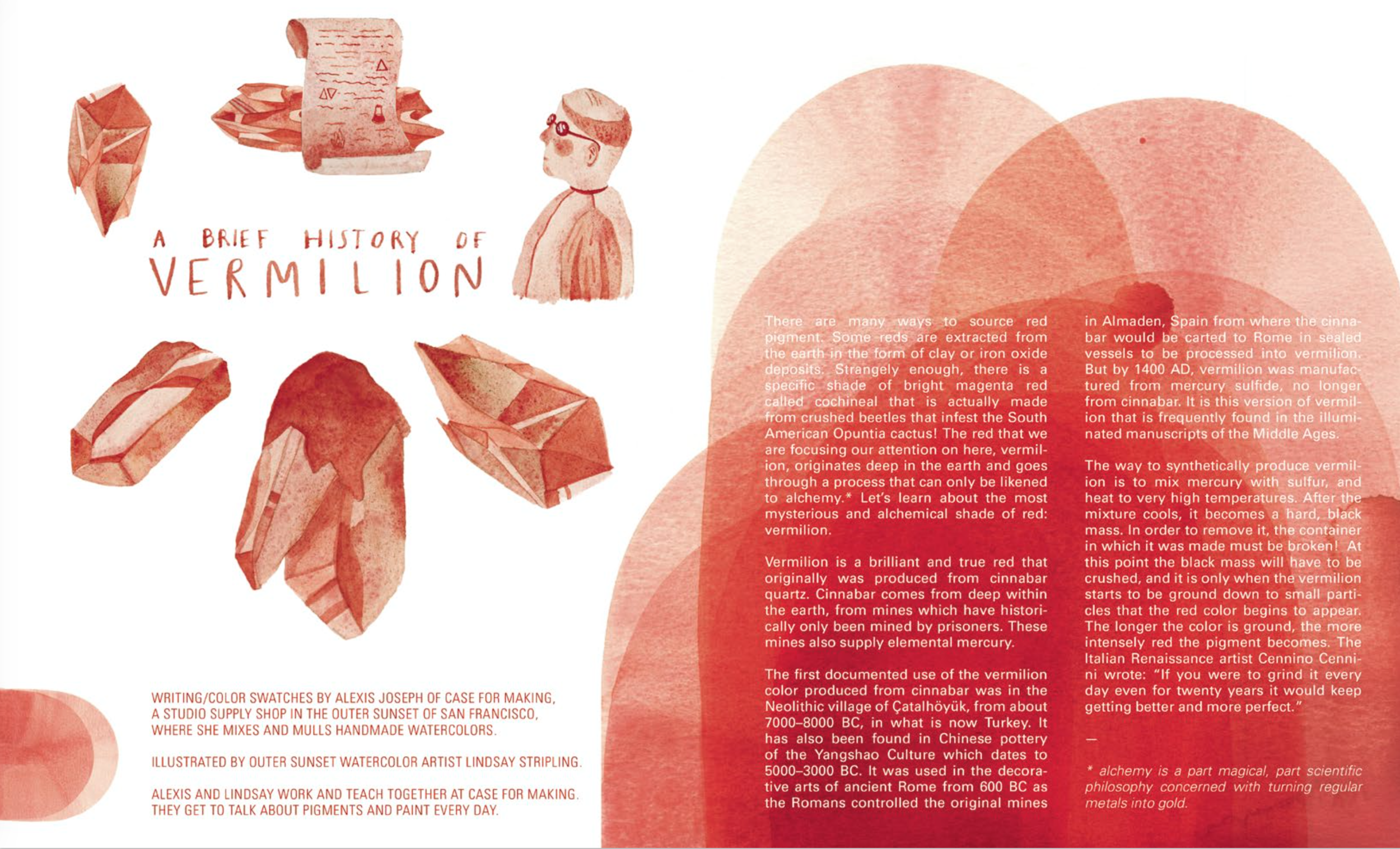A Brief History of Vermilion by Alexis Joseph and Lindsay Victoria Lee, for issue #5: Motion