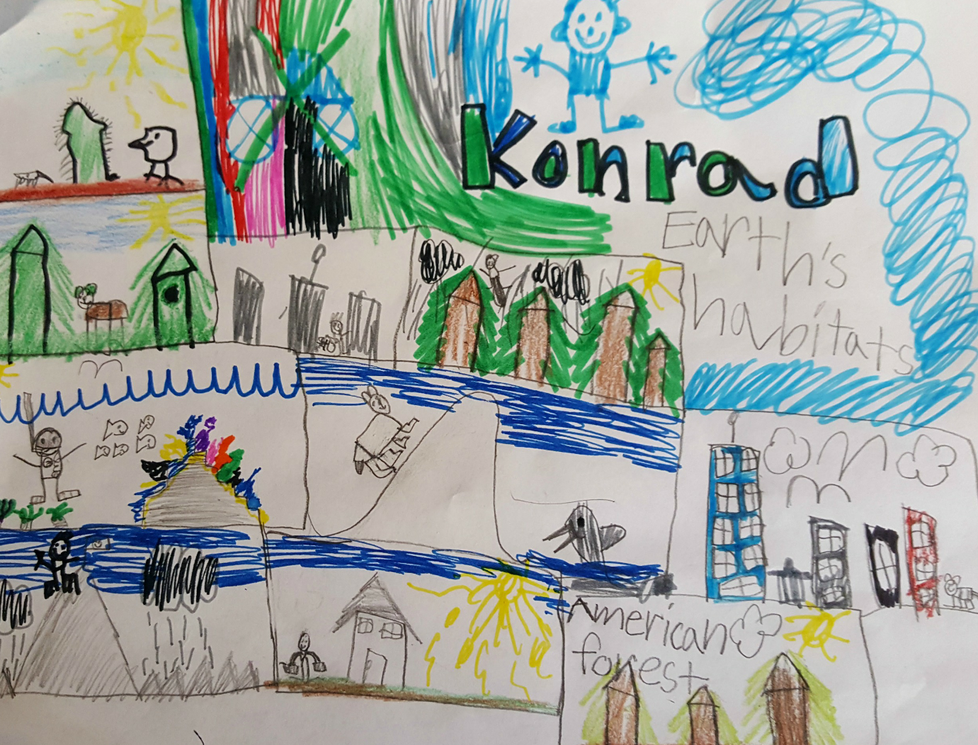 "Konrad, age 6, ""Earth's Inhabitants"""