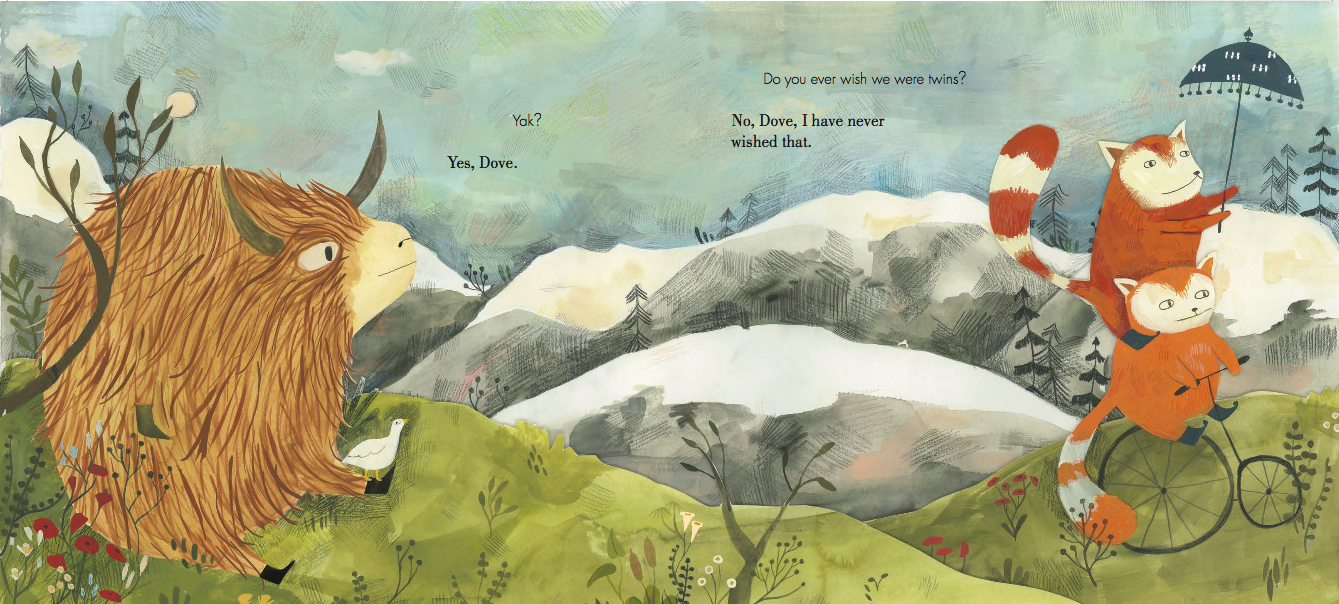 Yak and Dove , by Kyo Maclear and illustrated by Esmé Shapiro