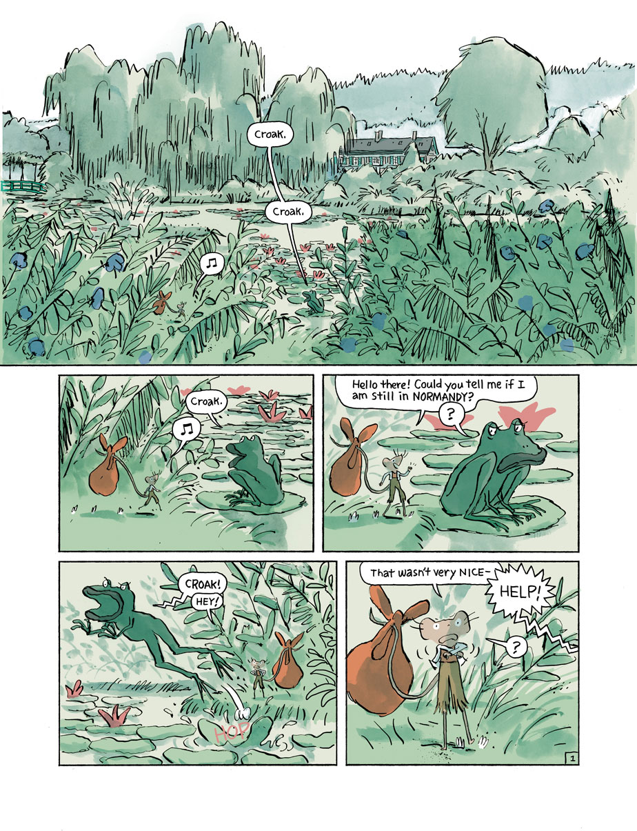 Page from  Musnet; The Mouse of Monet by  ©  Kickliy
