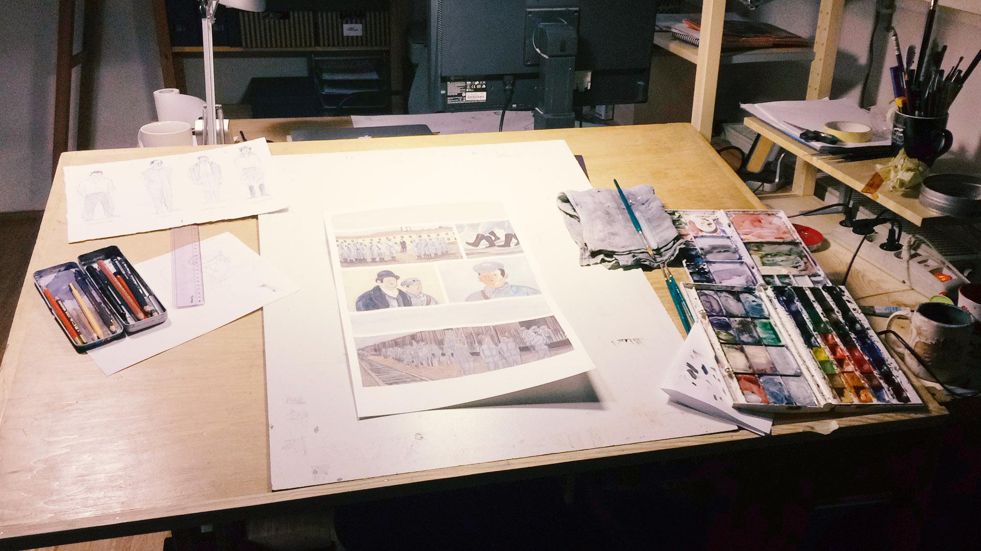 Berenika's studio.