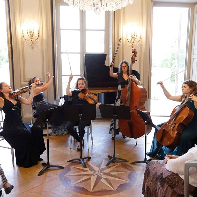 """So happy to share with you the news that the Conservatoire de Ville d'Avray Chaville from now on will be named """"Conservatoire Yehudi Menuhin"""" ! #yehudimenuhin #conservatoire #musicschool #musicforall #festivalhommagemenuhin #yehudi #menuhin #villedavray #chaville @villedechaville #raphaellemoreau #leahennino #annikatreutler #juliahagen #lorrainecampet photo ©@ingesonradio"""