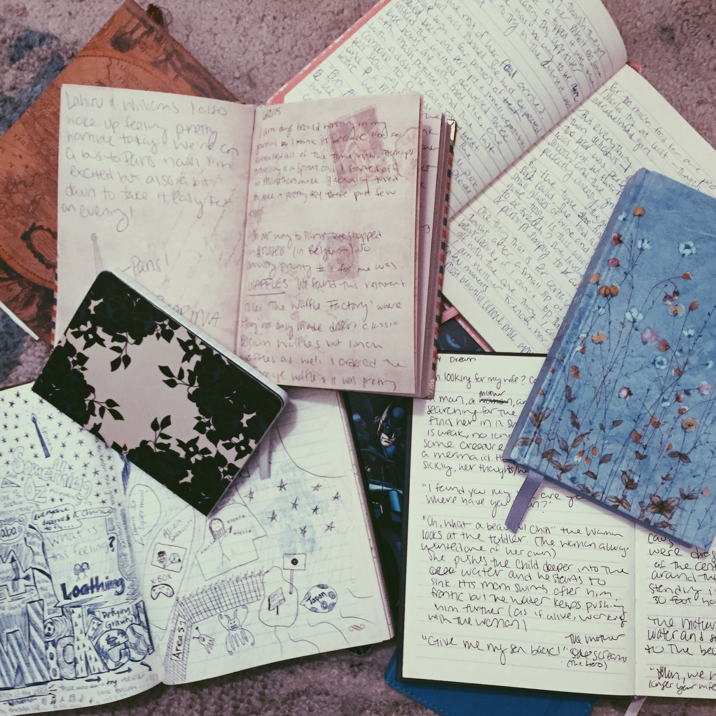 Just a handful of the journals I have lying around.