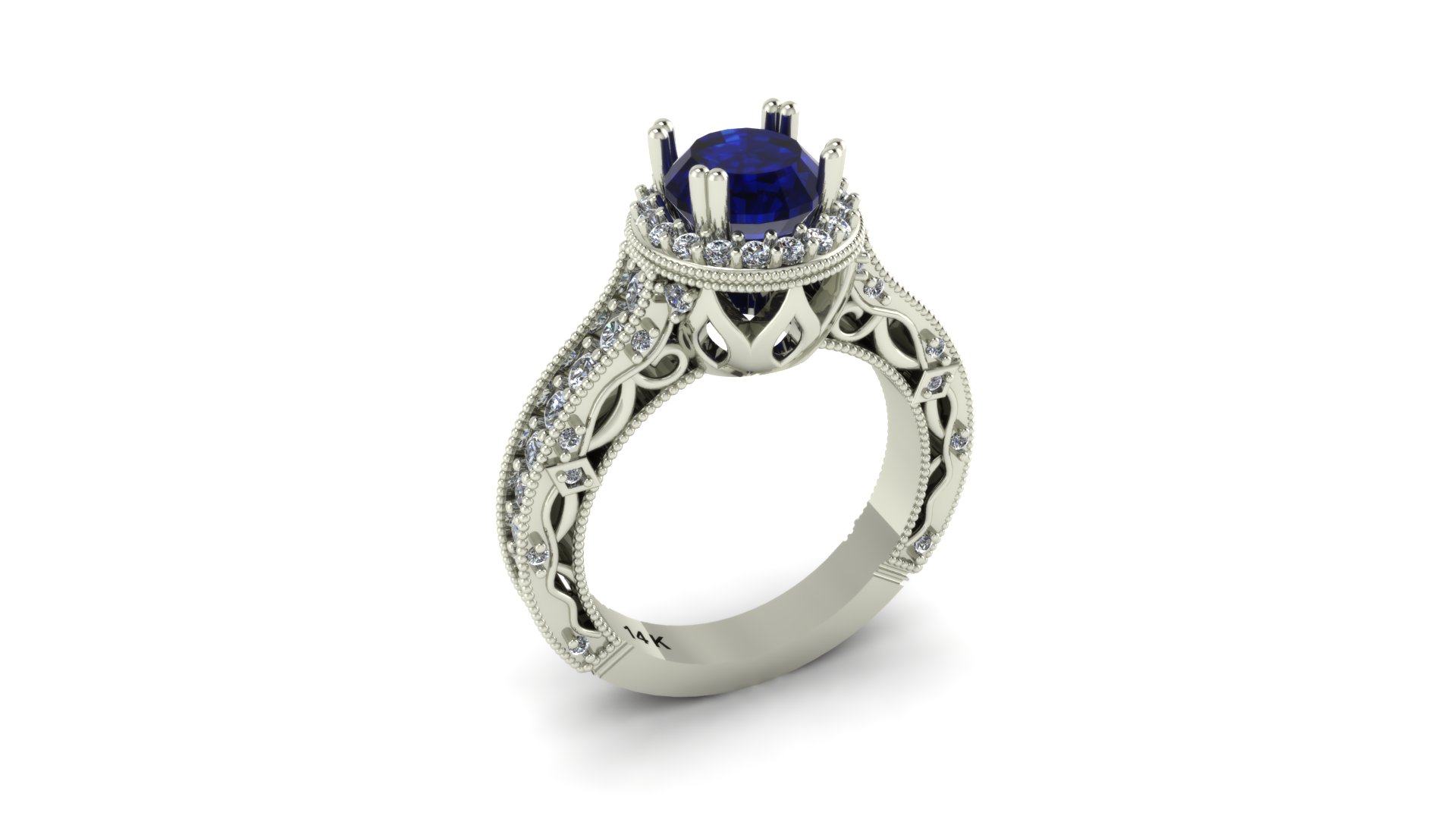 Petal Engagement Ring