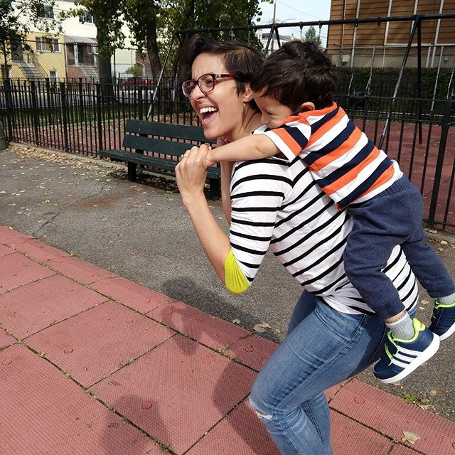 Motherhood is really hard but then there are days you run around the playground and give piggyback rides and the tough moments fade away.