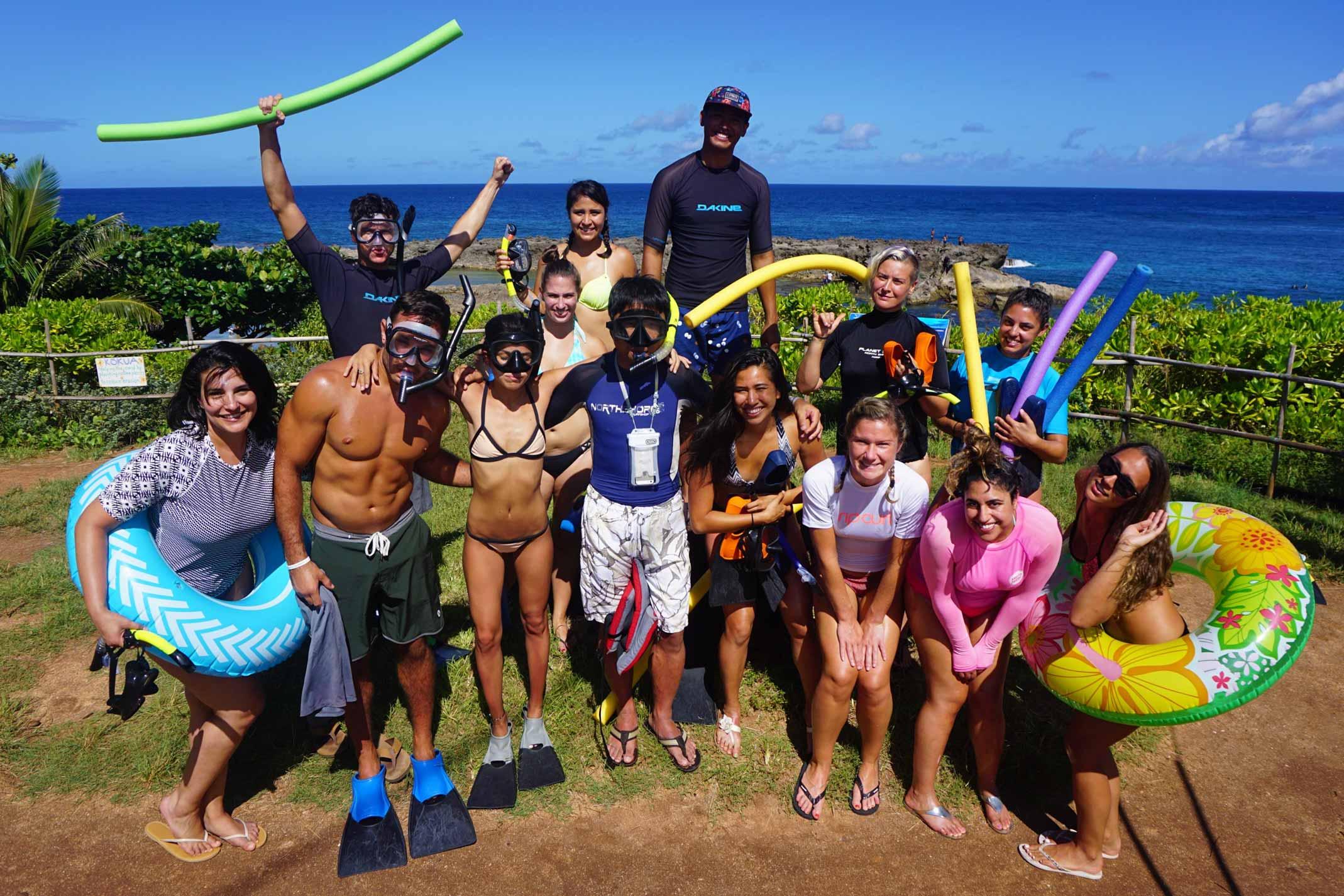 SYB Crew going snorkeling