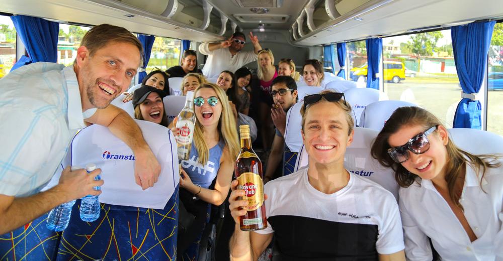Havana Club rum as soon as we all get on the bus ;)