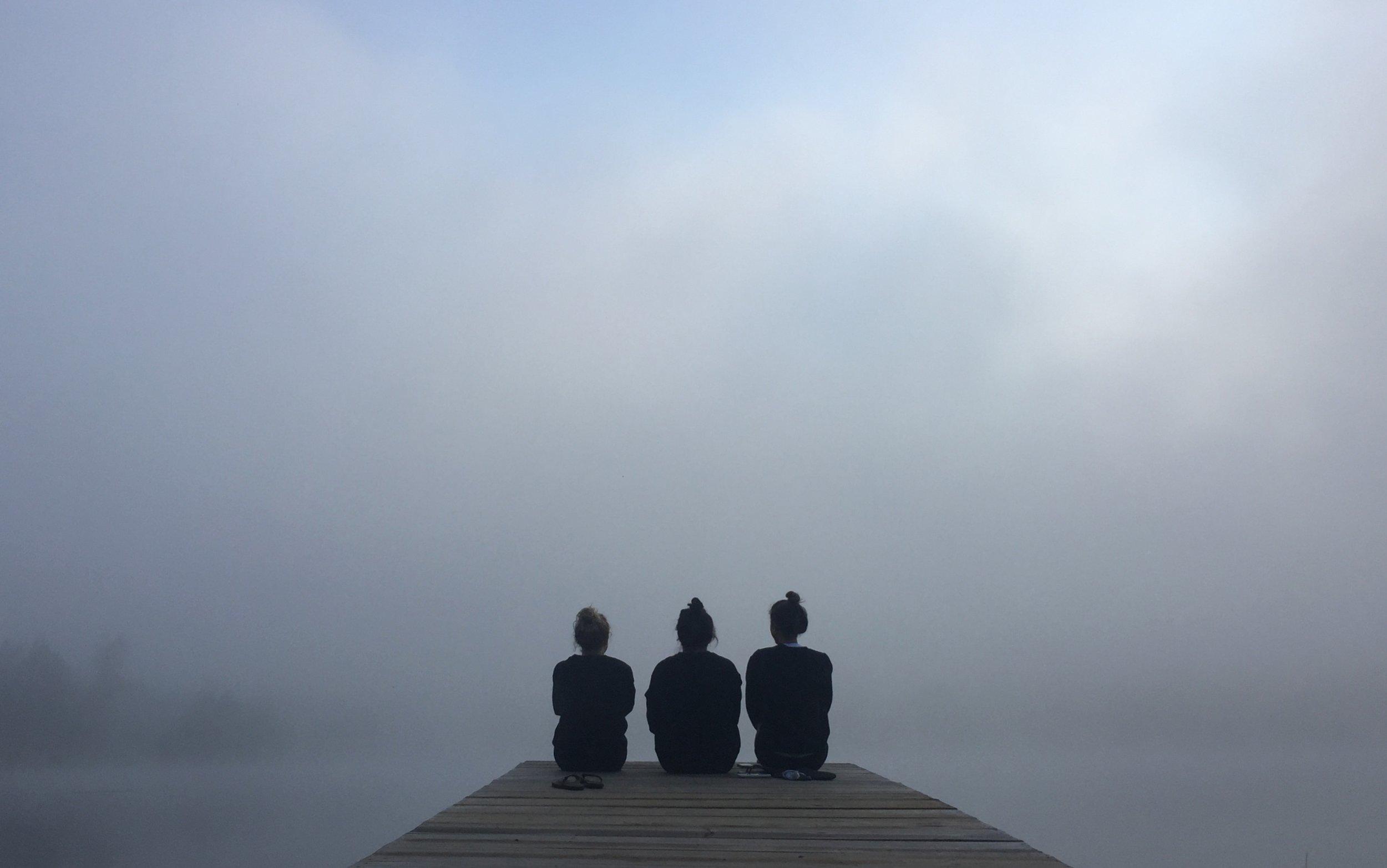 Morning meditation moments.