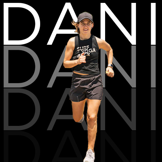 Run Club Firestarter     Miami's most well connected, and fired up run club coach - expect fire throughout your body especially legs and abs… ayyyyyeee      DANI'S INSTAGRAM