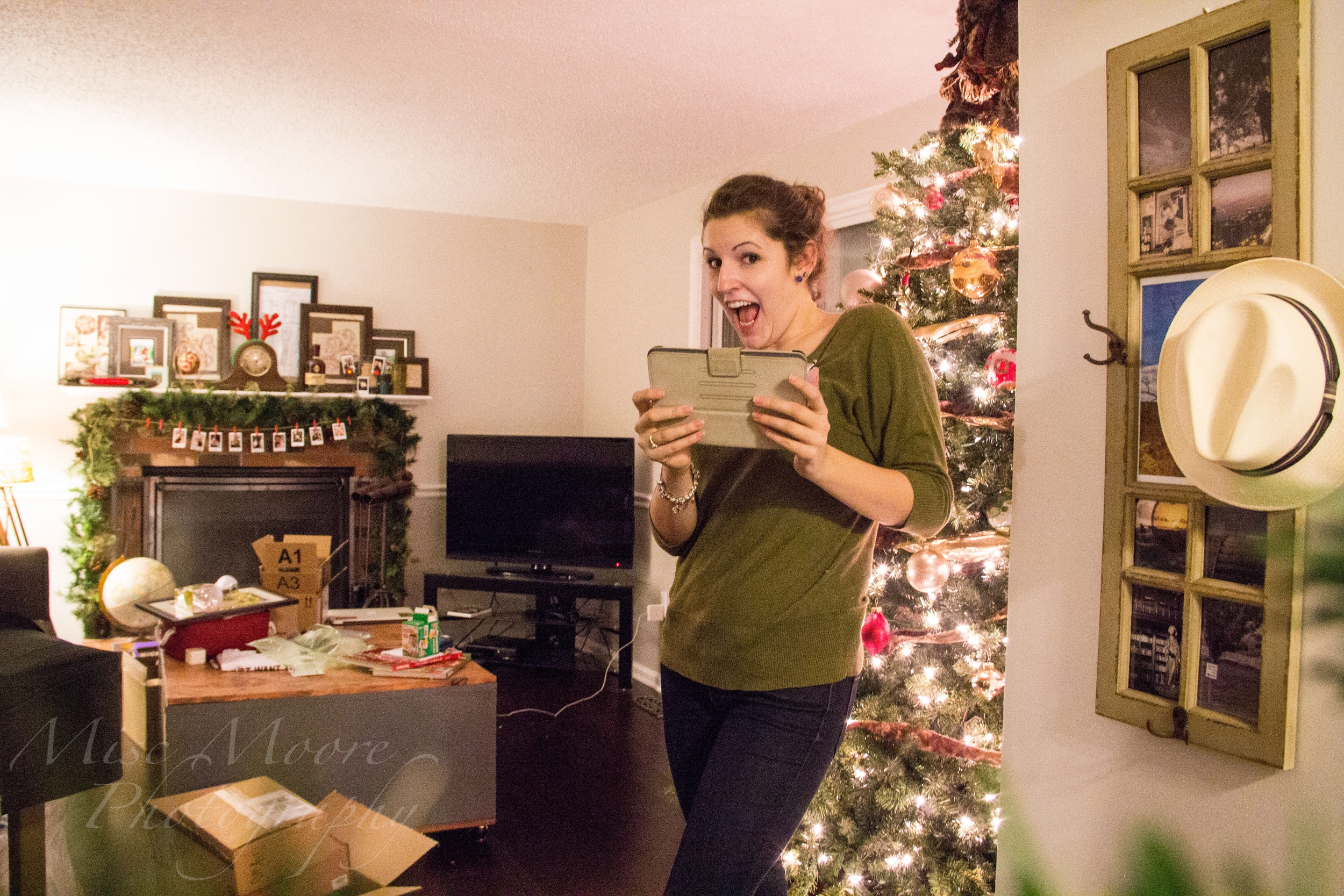 Trying out my new Weye Feye on Christmas night -- obviously a little excited!