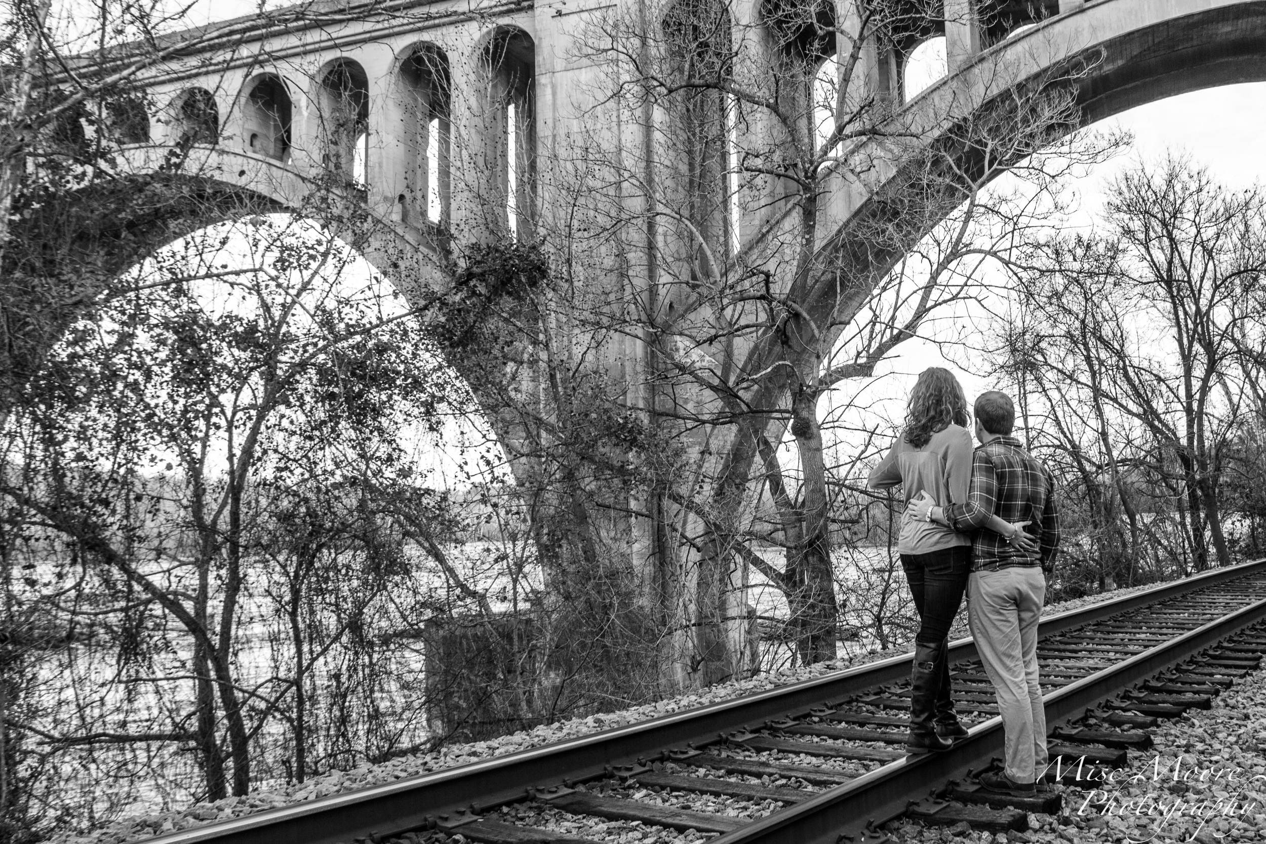 Time with my honey on the tracks, made possible with live view and a remote trigger in the form of a Weye Feye S.