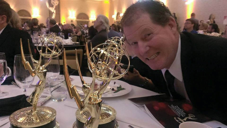 When Michael's not busy sarcastically answering my questions, he's winning Emmys and stuff.