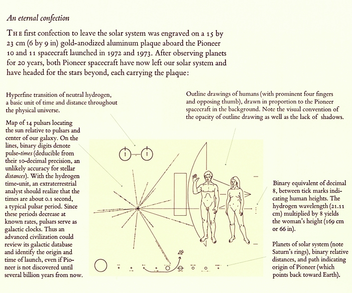 ( Edward Tufte's explanation of  The Pioneer Plaque , from _Visual Explanations_ [ 01997 ])