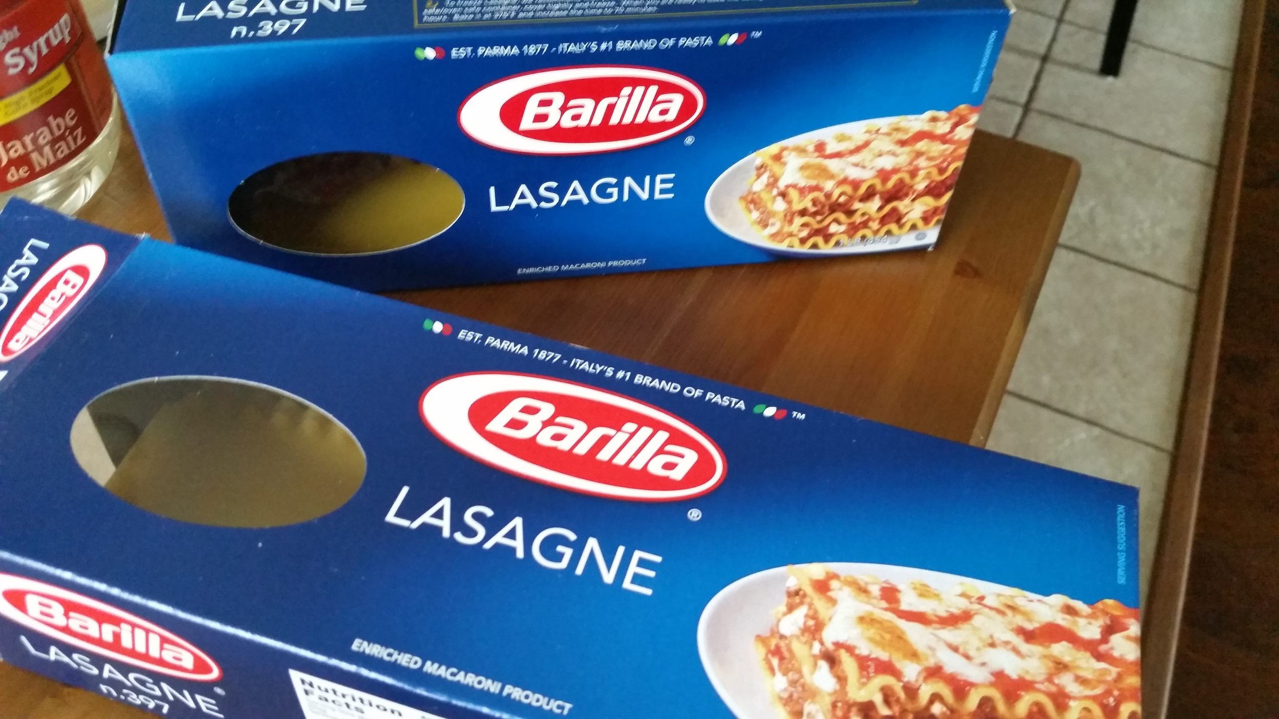 Seriously, you can never make TWO lasagnas from ONE box. Am I right?