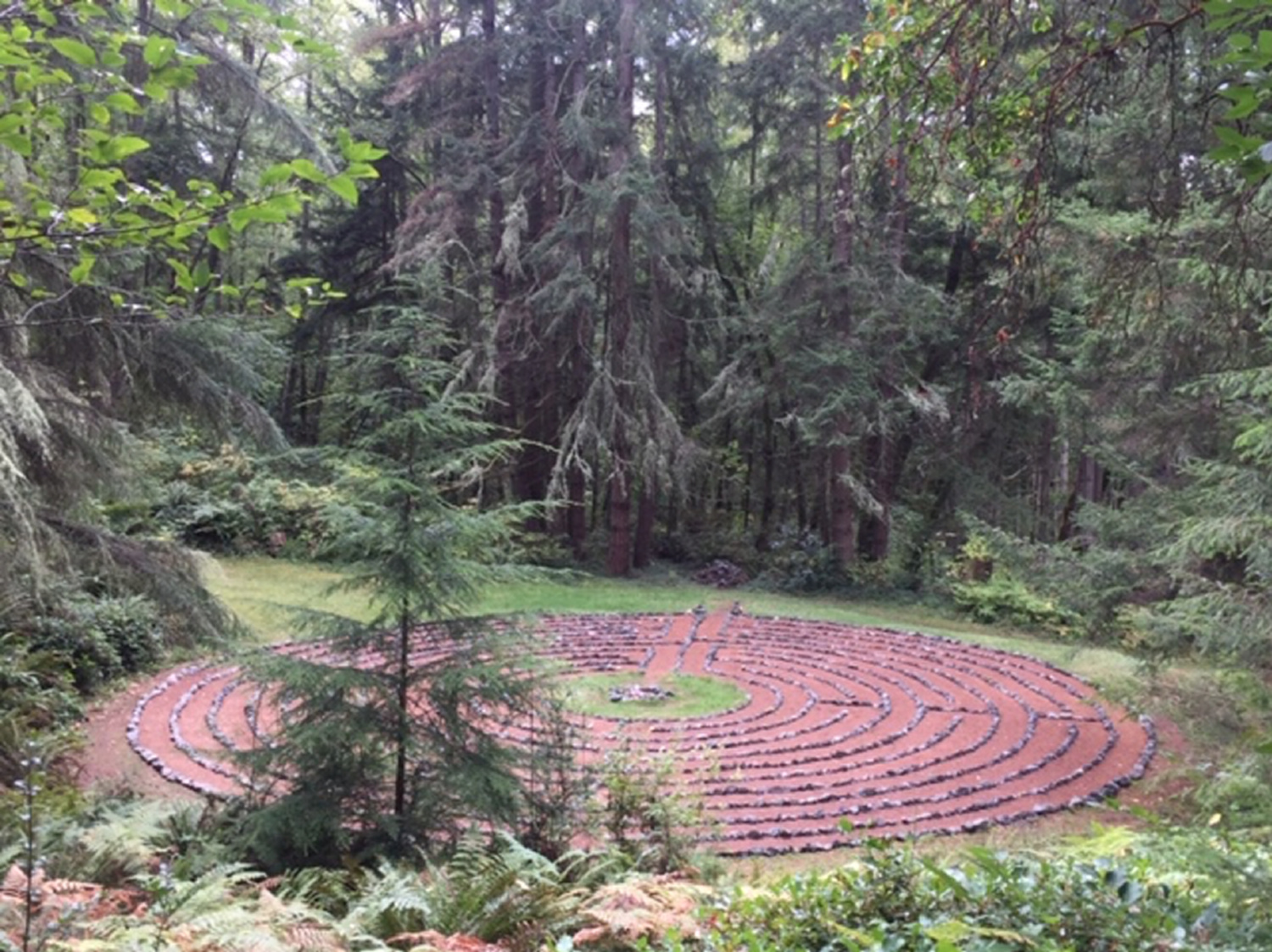 The labyrinth at the Whidbey Institute on Whidbey Island, Washington