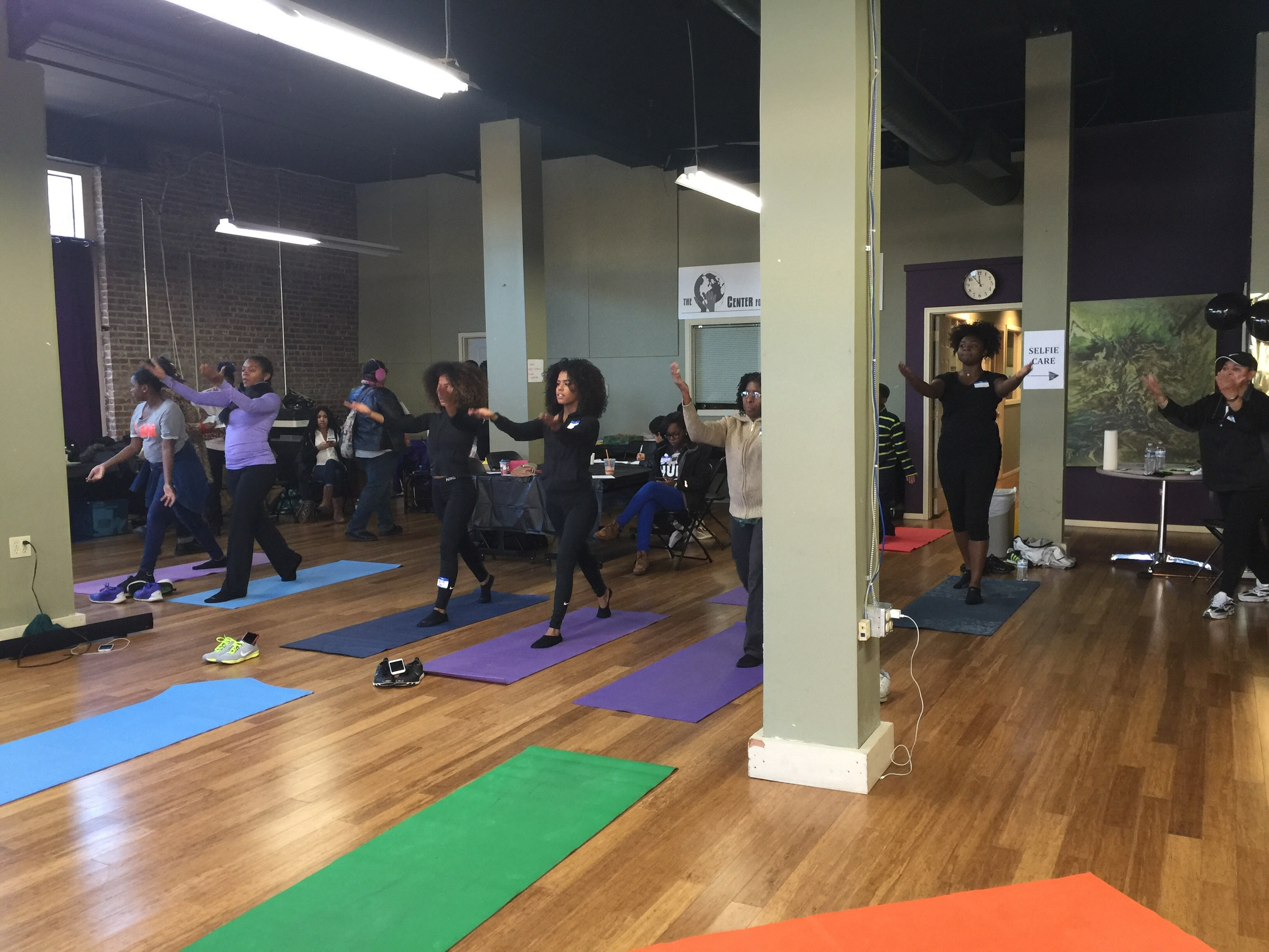 Zalayshia of Ascension Well Body and Fitness' Pilates session