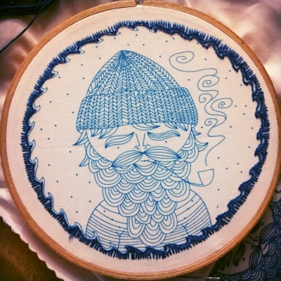 Sea Captain Embroidery Kit by CozyBlue on Etsy, buy it  here