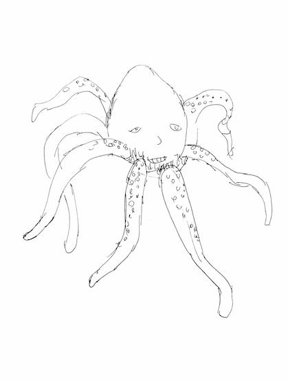 seven legged octopus who's eighth leg was delicious