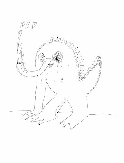 if a Nelliesaurus blows you kisses...RUN!