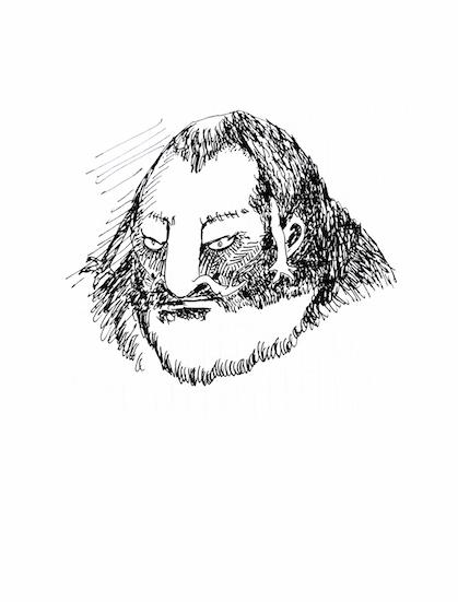 mutant with Hemmingway beard