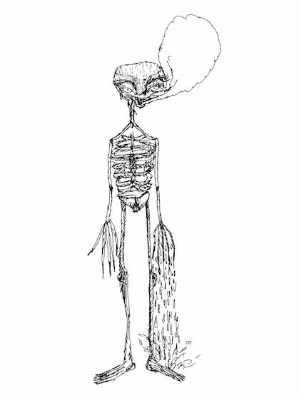 skeleton in Y-fronts