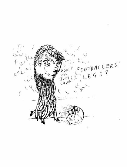 footballer's legs