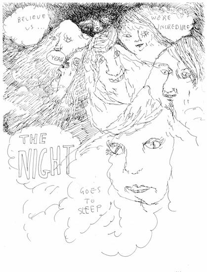 the night goes to sleep