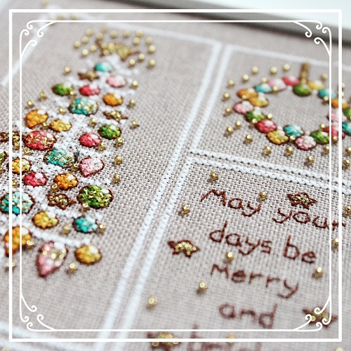 Close up for Vintage Merry and Bright