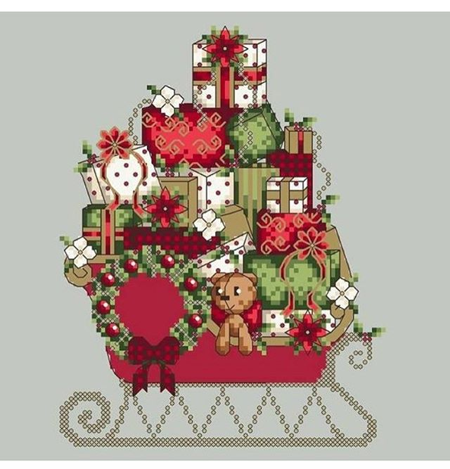 Santa's Sleigh is the newest addition to the website this Christmas season! Still plenty of time to stitch it up in time for Christmas . . . #crossstitch #xstitch #christmascrossstitch #pointdecroix #shannonwasilieff #shannonchristinedesigns #crossstitching #needleart #crossstitchpattern #crossstitchdesign #selfemployed #bossbabe #craftpattern #craft #handmadegifts #stitchersofinstagram #xstitchig #christmasdesign #countedcrossstitch