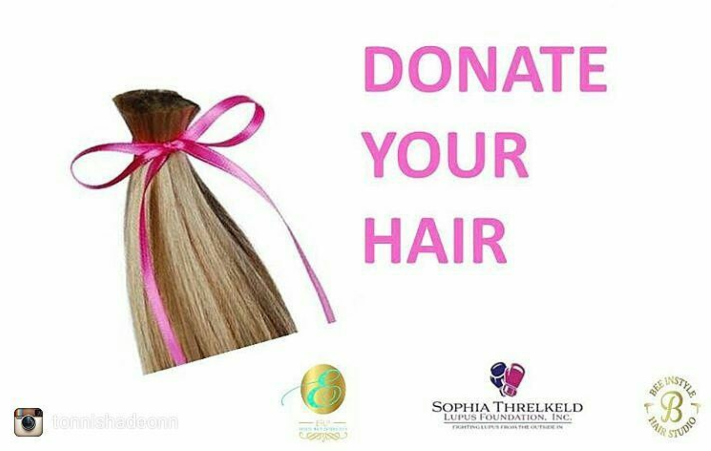 To make human hair donations  please call 713.998.7174 or mail hair donations to Custom Wig Express P. O. Box 20289 Houston, TX 77225