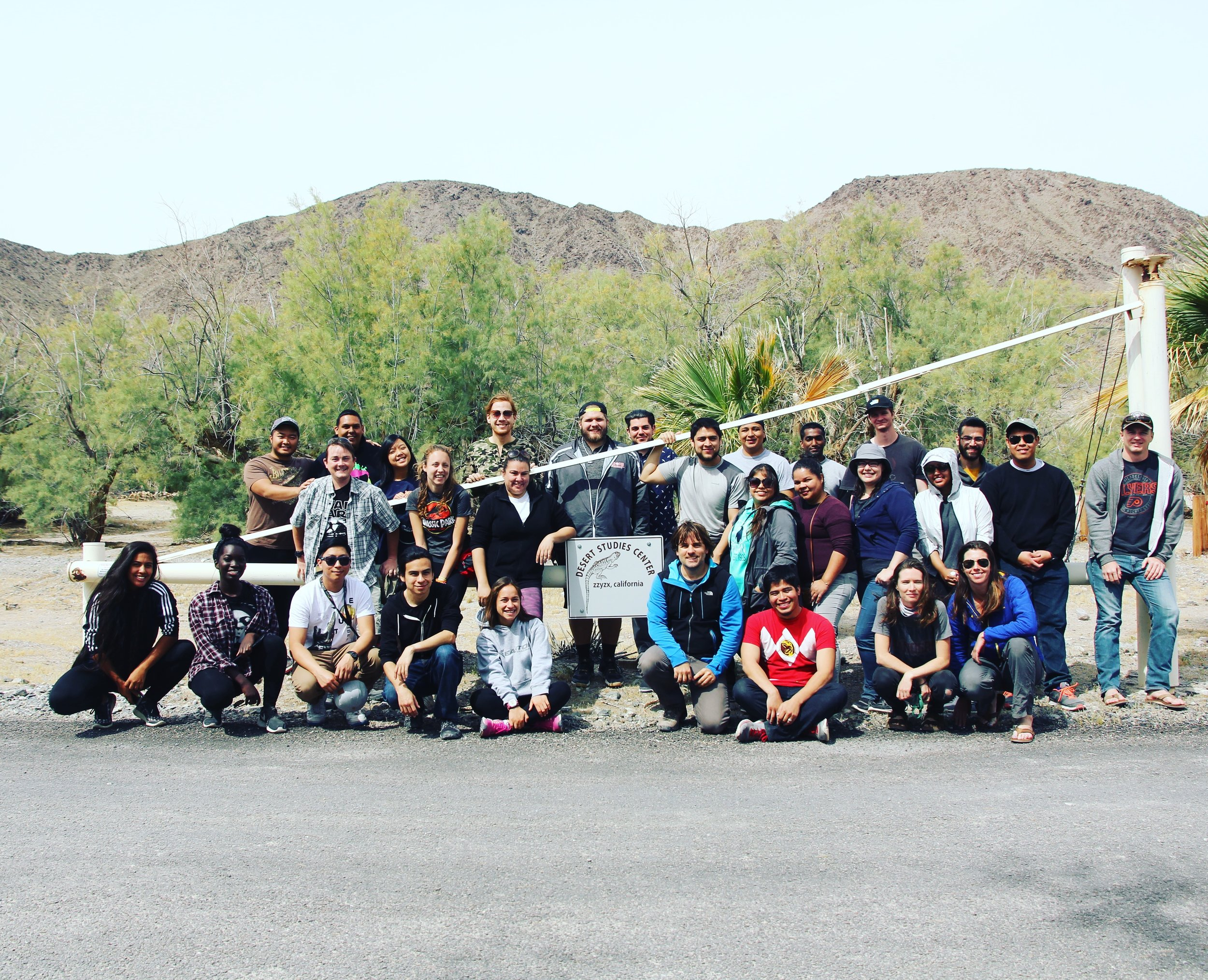 2017 Ornithology class on our weekend retreat to the Desert Studies Center, Zzyzx, California