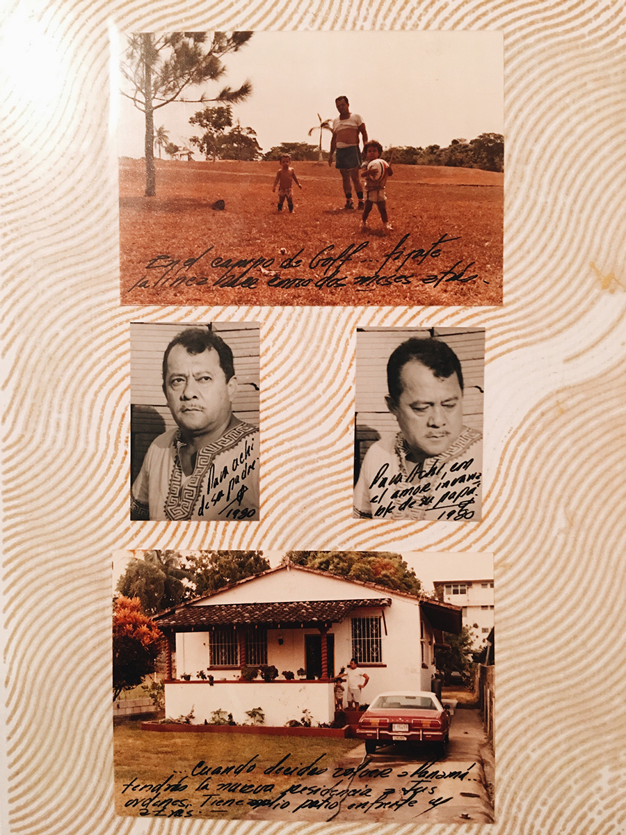 Photos and postcards my dad sent to my Mexican family from Panama.