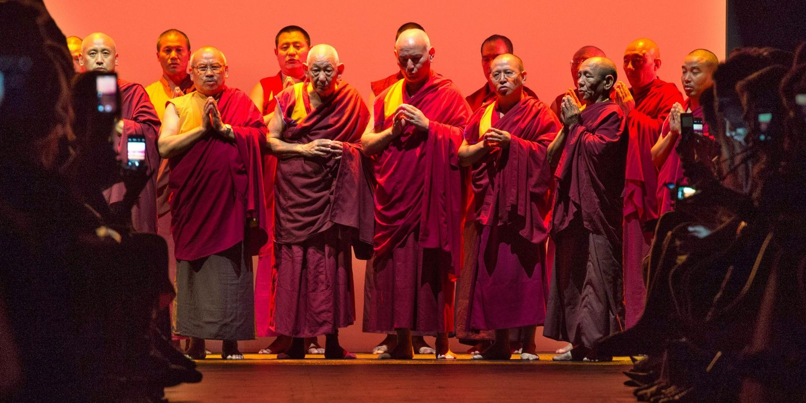 Prabal Gurung's SS16 runway show was a love letter to his native Nepal with Buddhist monks chanting at the finale.