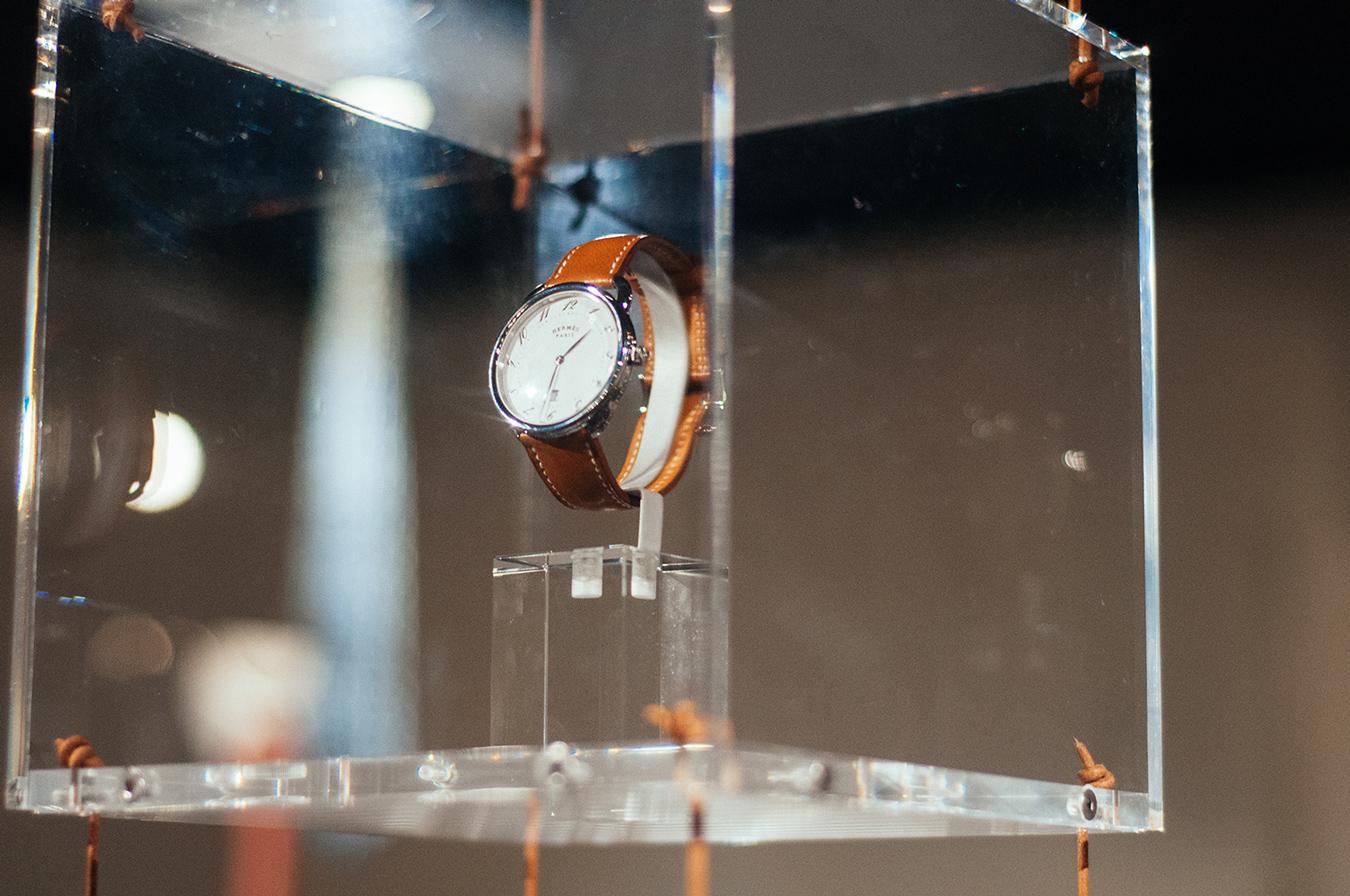'Cape Cod Shadow' watch. Quartz movement, Fauve Barenia leather wrist