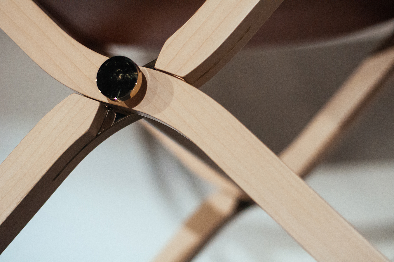 Detail from the 'Pippa' bendable chair. Contemporary collection.