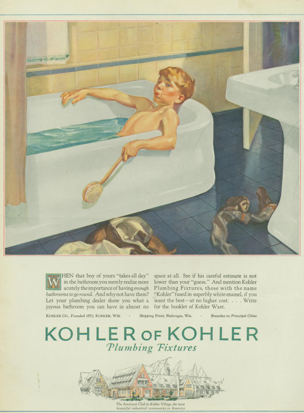 Kohler Co. introduces the company's first one-piece, built-in bath with an integral apron.