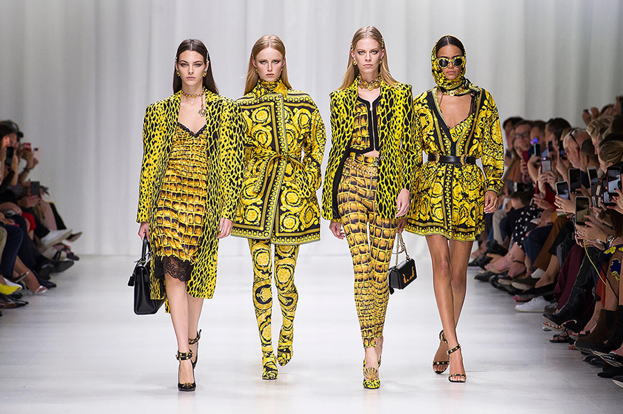 "The ""Versace Tribute"" Spring/Summer 2018 collection."